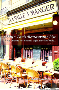 Download Abby's Paris Restaurant List