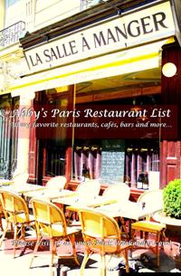 Download Abby's Paris Restaurant List