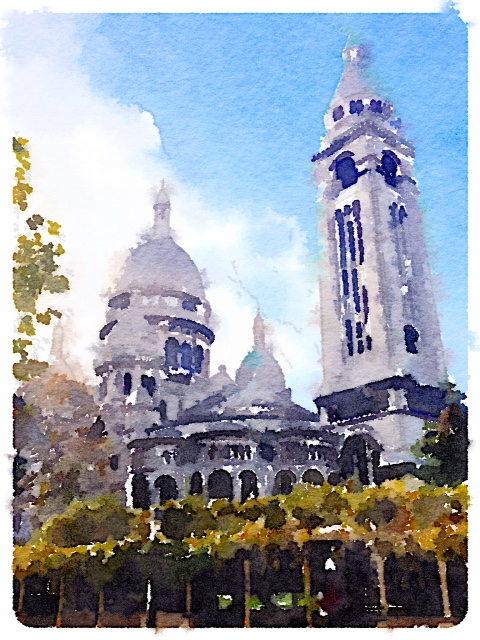 Sacre Coeur with Waterlogue