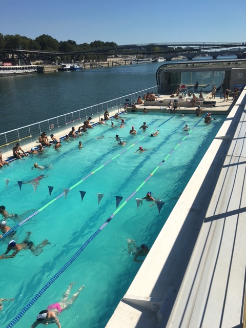 There May Be Nicer Indoor Pools In Paris But What S Great About The Joséphine Baker Pool Is Sun Deck Upstairs Are Probably A Hundred Chaises