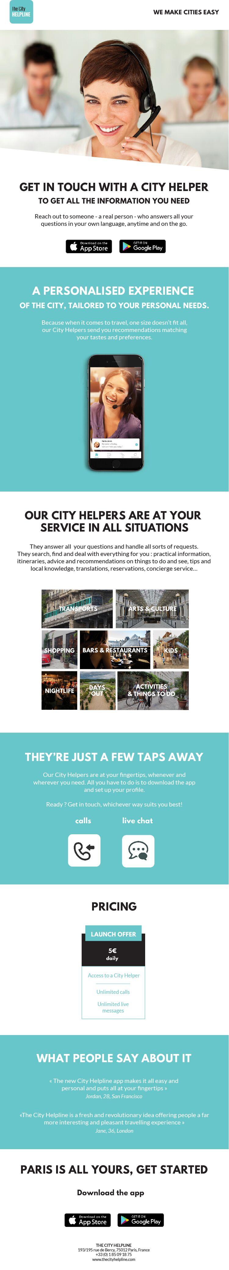 The City Helpline: a new virtual concierge